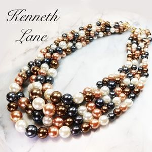 NEW! KENNETH JAY LANE 5-Strand Pearl Necklace